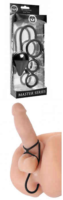 Triple Threat Tri Cock Ring and Anal Plug