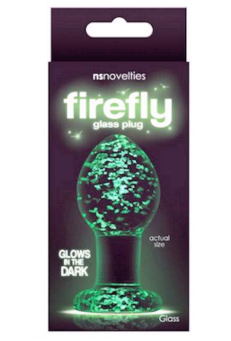 Firefly Glass Plug Medium Glow in the Dark