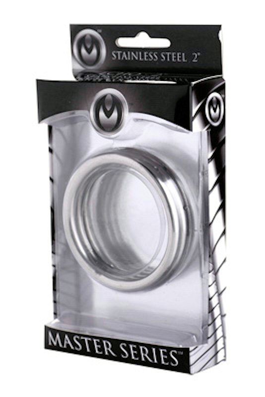".Master Series Echo 2"" Stainless Steel Triple Cock Ring"