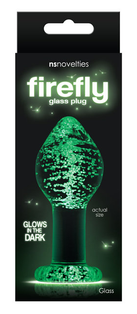 Firefly Glass Glow Anal Plue Large
