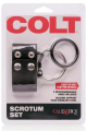Colt Scrotum Set Adjustable Snap Fastener Cock Ring