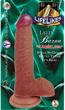 """Lifelikes Latin Baron 5"""" Dildo"""