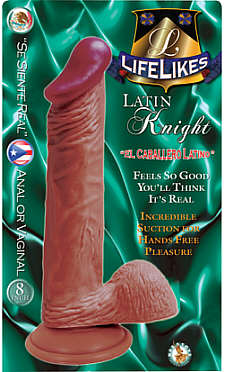 "Lifelikes Latin Knight 8"" Dildo"