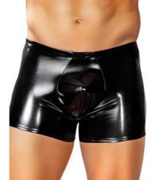 Men's Rubber Breif Pouch Black